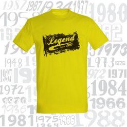 Gimtadienio marškinėliai Legend since
