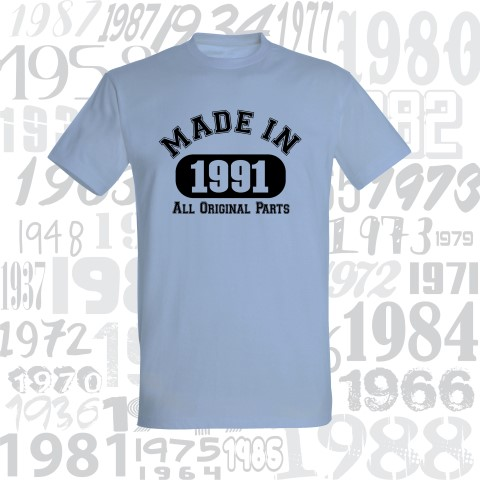 Marškinėliai gimtadieniui MADE IN