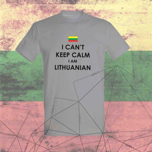Marškinėliai I can't keep calm