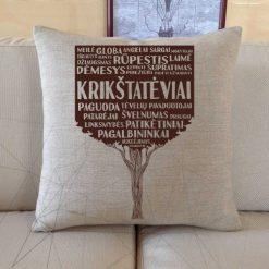 Dekoratyvinė pagalvėlė Krikštatėviai