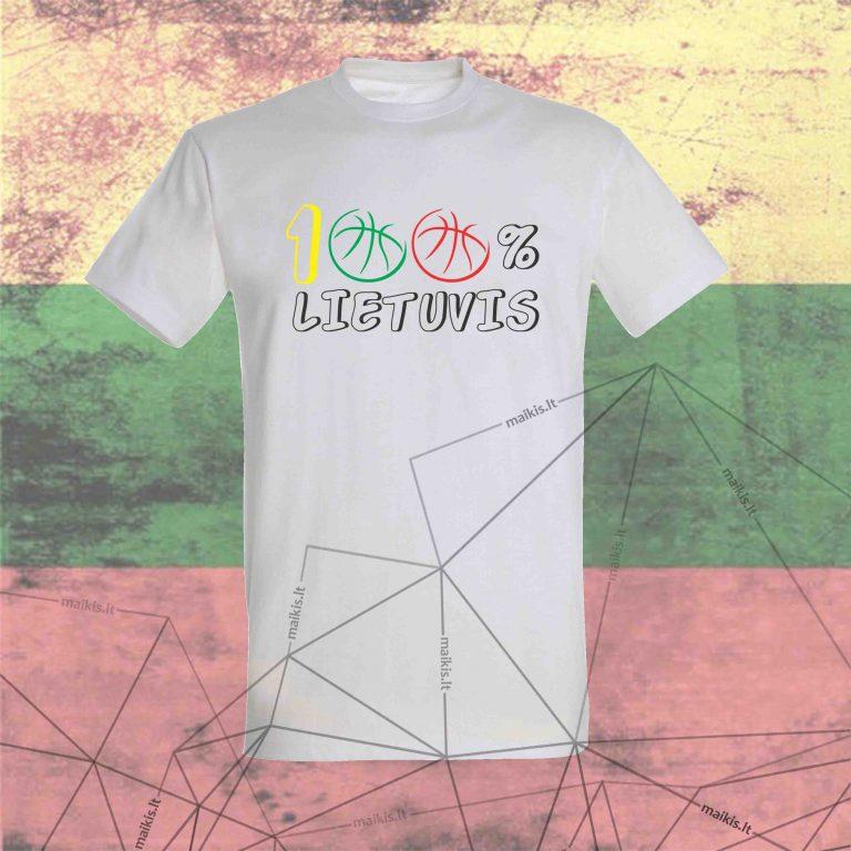 Marškinėliai Lietuvis 100 proc.