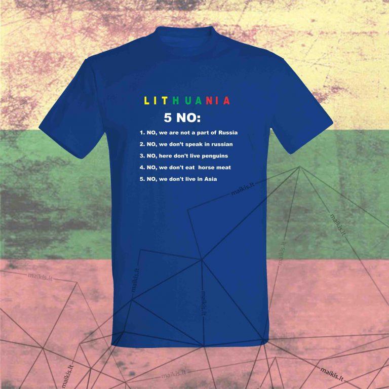 Marškinėliai Lithuania No 5