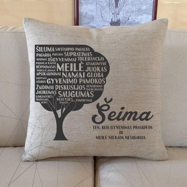 Dekoratyvinė pagalvėlė Šeima