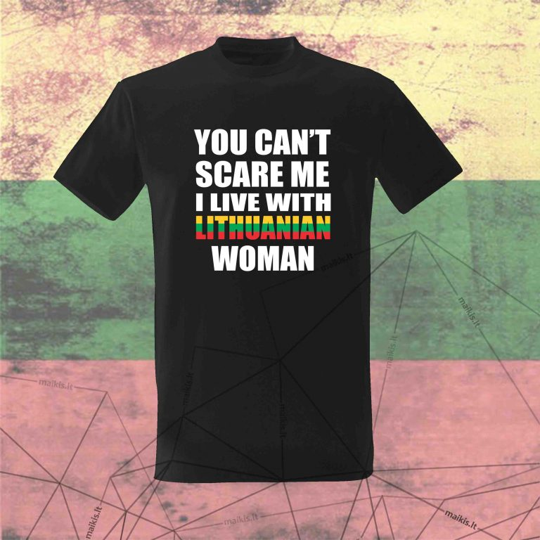 Marškinėliai You can't scare me