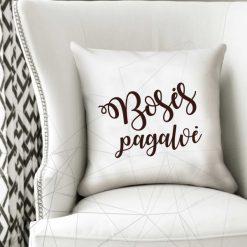 Dekoratyvinė natūralaus lino Bosės pagalvė