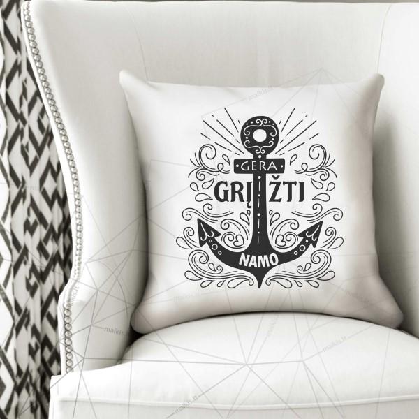 Dekoratyvinė pagalvėlė Gera grįžti namo