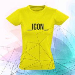 Marškinėliai su užrašu ICON