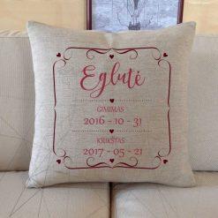 Krikštynų dovana dekoratyvinė pagalvėlė