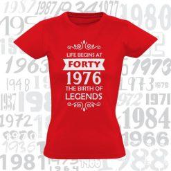Moteriški marškinėliai Life begins at