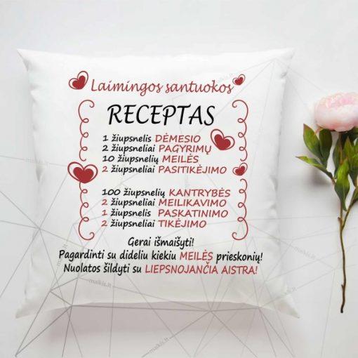 Dekoratyvinė pagalvė Laimingos santuokos receptas