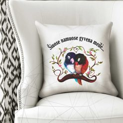 Dekoratyvinė pagalvė Šiuose namuose gyvena Meilė