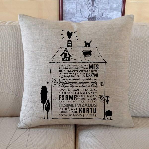 Dekoratyvinė pagalvėlė Šiuose namuose MES
