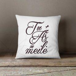 Dekoratyvinė pagalvėlė Tu + Aš = meilė