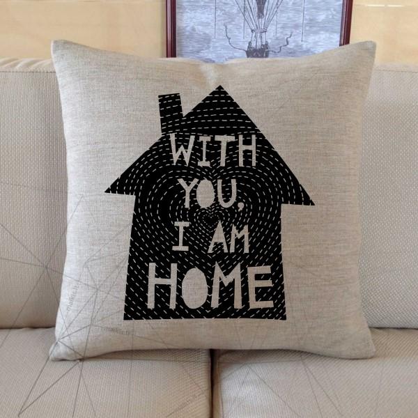 Dekoratyvinė pagalvėlė With you i am home