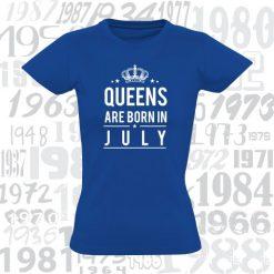Moteriški marškinėliai Yes, queens are born...