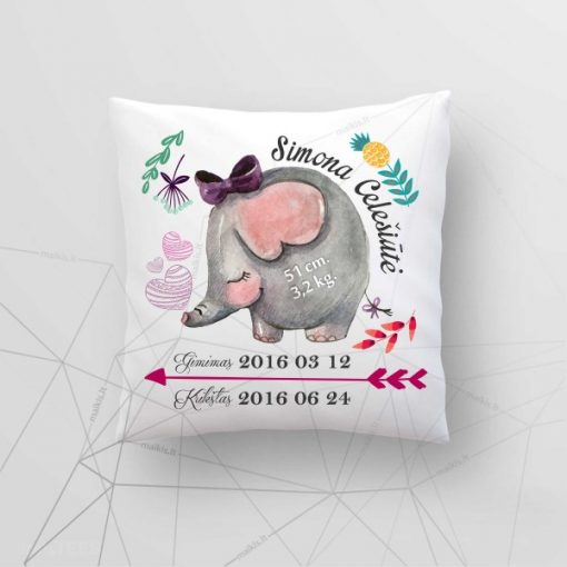 Z02 Asmeninė gimimo - krikšto dekoratyvinė pagalvėlė