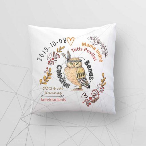 Z03 Asmeninė gimimo - krikšto dekoratyvinė pagalvėlė