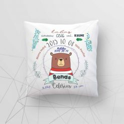Z05 Asmeninė gimimo - krikšto dekoratyvinė pagalvėlė