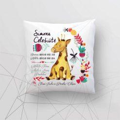 Asmeninė gimimo - krikšto dekoratyvinė pagalvėlė