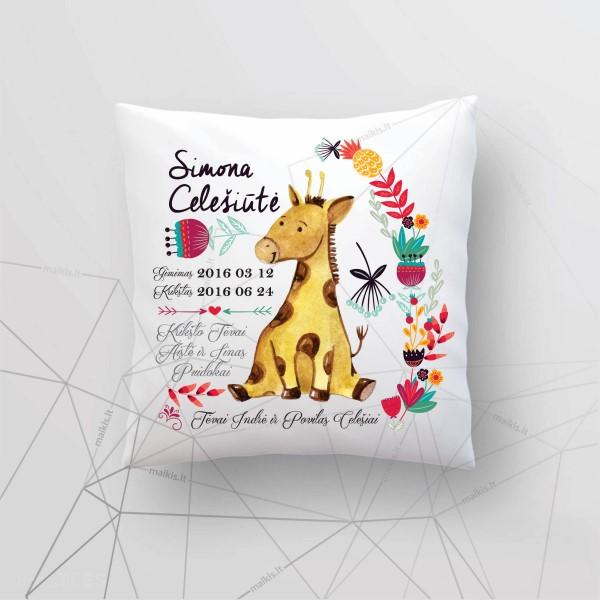 Z06 Asmeninė gimimo - krikšto dekoratyvinė pagalvėlė