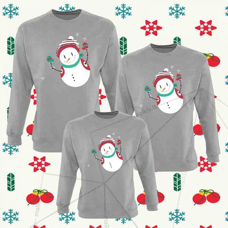 Kalėdiniai bliuzonai šeimai Snowman