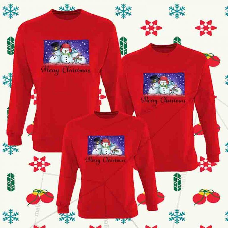 Kalėdiniai bliuzonai šeimai Snowmans