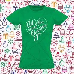 Moteriški Kalėdiniai marškinėliai