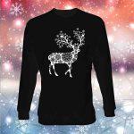 Vaikiškas kalėdinis bliuzonas Snowy Deer