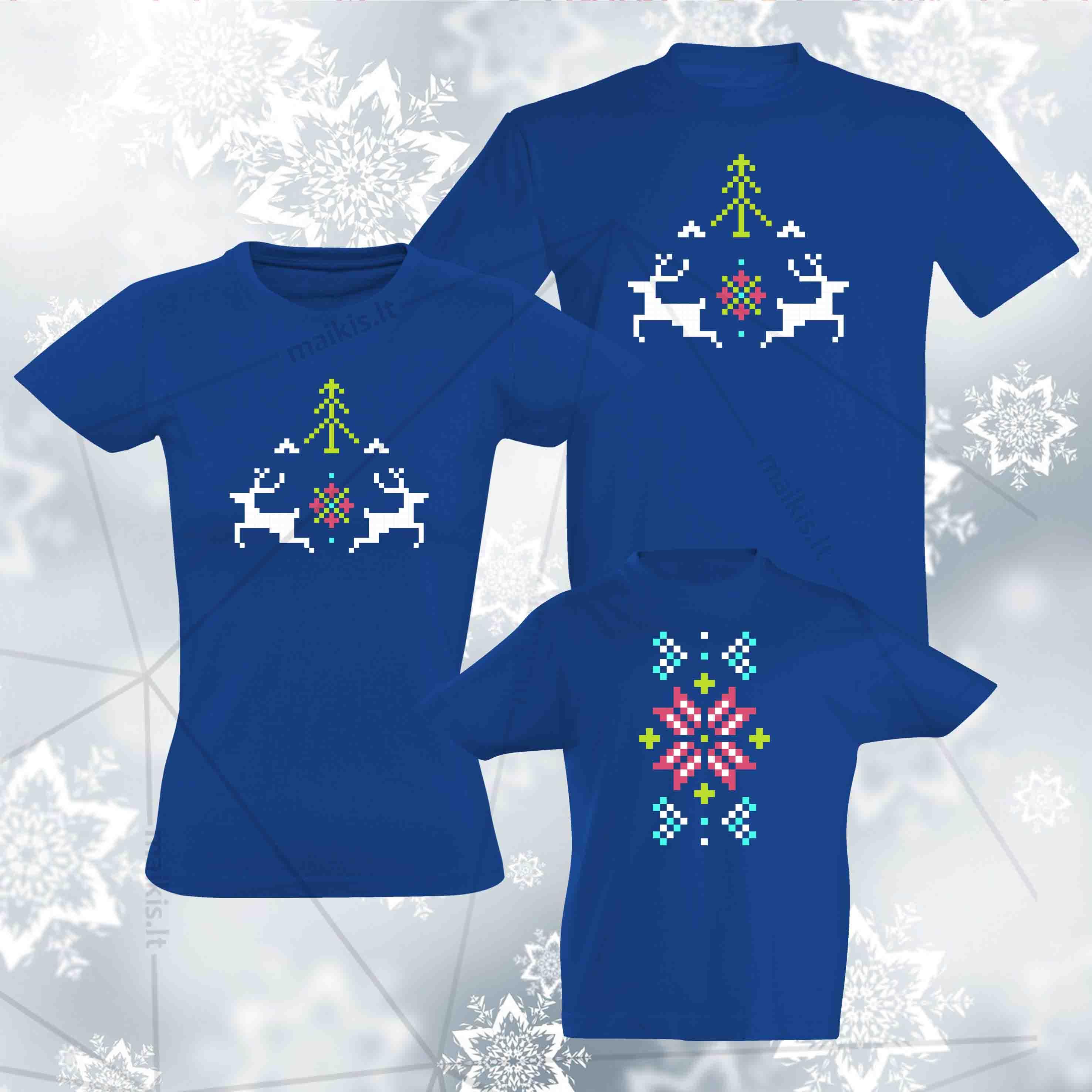 Kalėdiniai marškinėliai šeimai