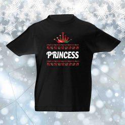 Kalėdiniai vaikiški marškinėliai KING & QUEEN & PRINCESS