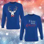 Kalėdiniai bliuzonai poroms I love my Rudolf
