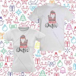 Kalėdiniai marškinėliai poroms