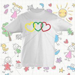 Marškinėliai vaikams - Trys širdys