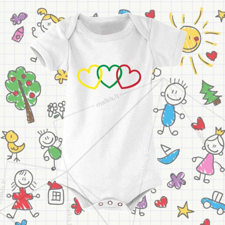 Smėlinukas vaikams Trys širdys