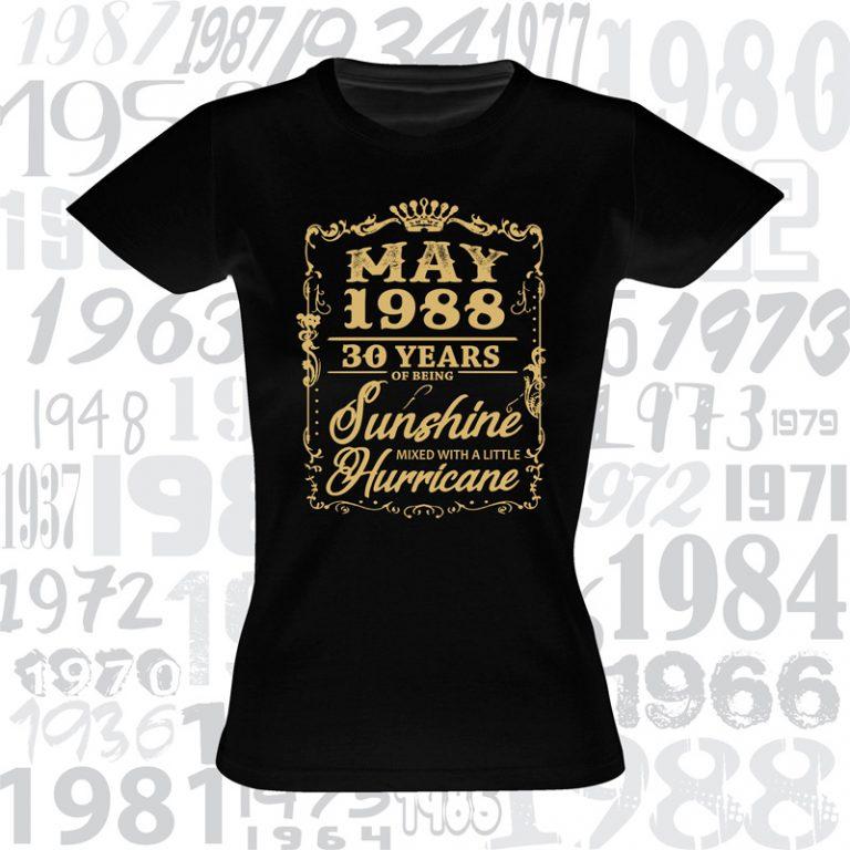 Marškinėliai gimtadieniui Sunshine