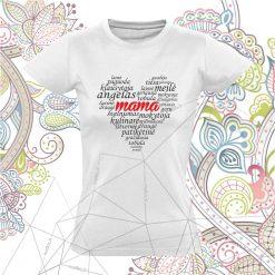 Marškinėliai mama Mama - širdis