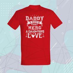 Marškinėliai tėčiui Daddy a son's first hero