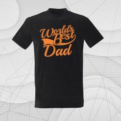 Marškinėliai tėvo dienai World's best dad